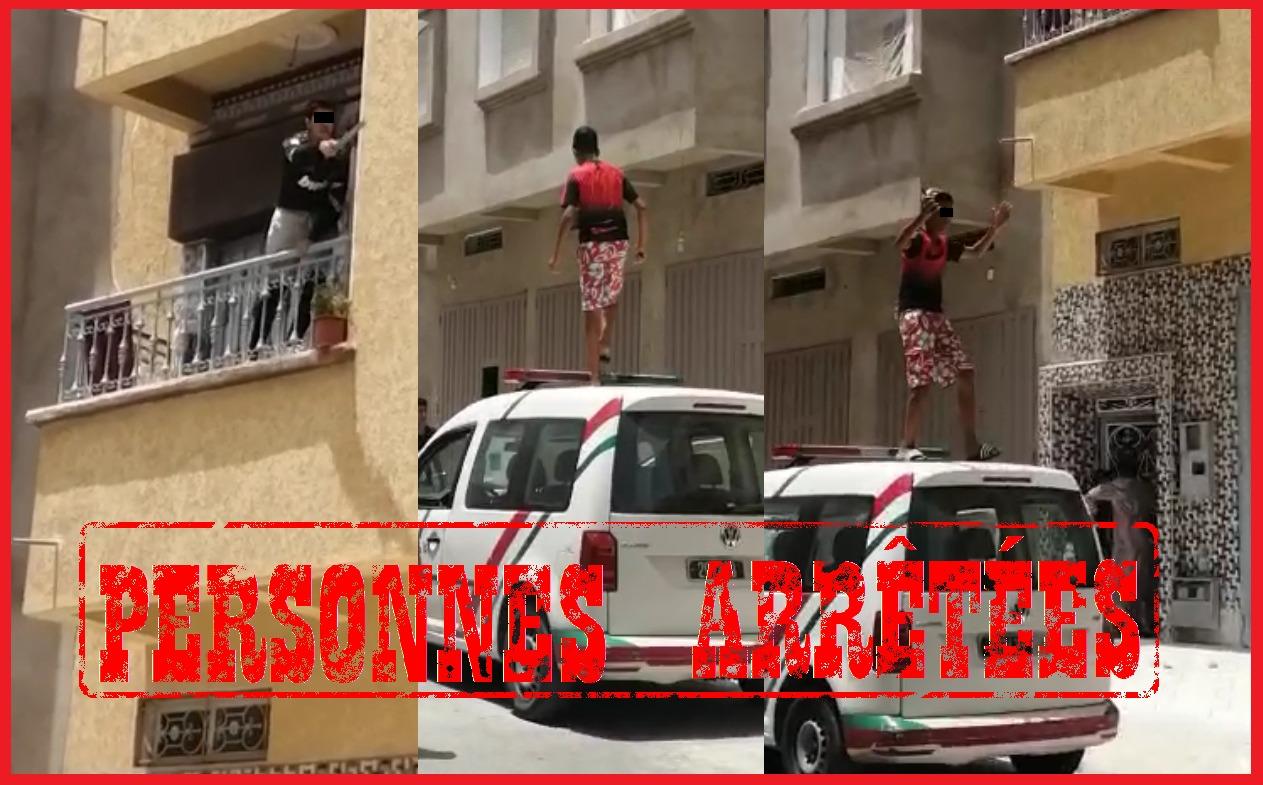 جيران ضاربو واحد فيهم طلع فوق طوموبيل لبوليس